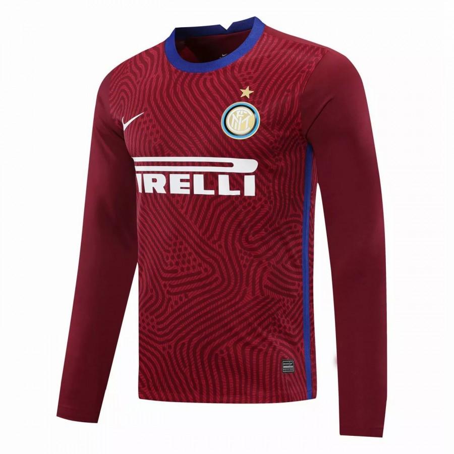 Maglia Portiere Inter Milan Manica Lunga Rossa 2020 2021   Best Soccer Jerseys