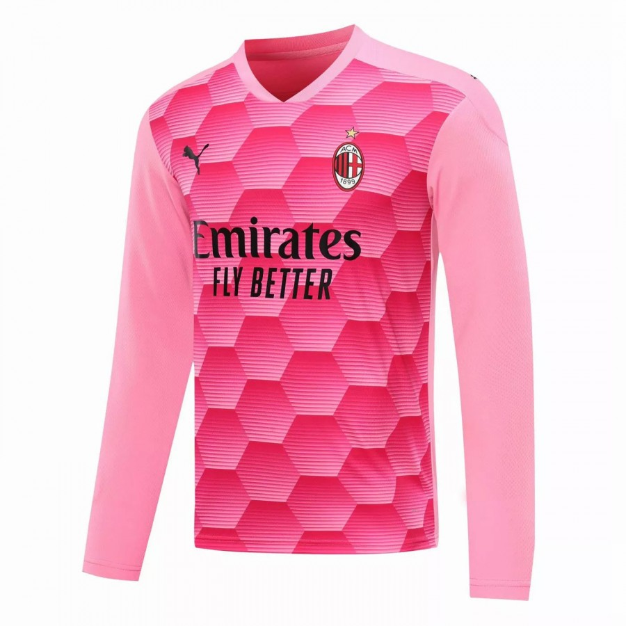 Maglia manica lunga portiere AC Milan Rosa 2020 2021   Best Soccer Jerseys
