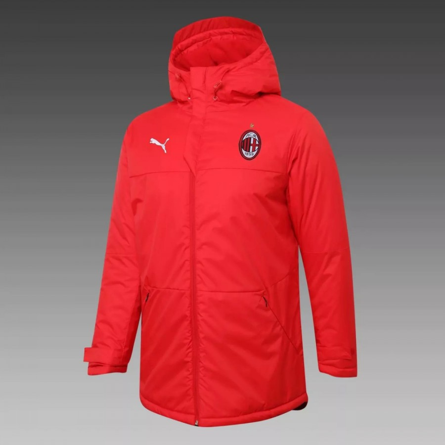 Giacca invernale da allenamento AC Milan Rossa 2020 2021 | Best Soccer Jerseys